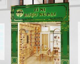 Thiết kế nội thất shop rượu ngoại Tí Nị - Quận Tân Phú