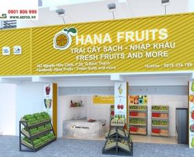 Thiết kế nội thất shop trái cây HaNa Fruits - Bình Thạnh