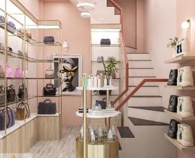 Thiết kế nội thất shop túi xách của chị Ngọc - quận 1