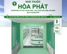 Thiết kế nội thất tiệm thuốc tây Hòa Phát - Đồng Nai