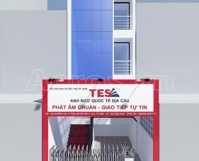 Thiết kế nội thất trung tâm anh ngữ TES - quận 9