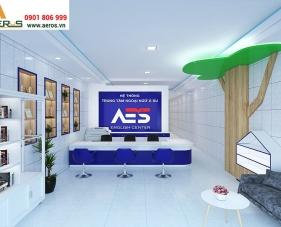 Thiết kế nội thất trung tâm ngoại ngữ Á Âu AES - Bình Dương