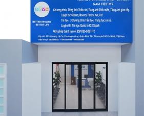 Thiết kế nội thất trung tâm ngoại ngữ Nam Việt Mỹ - Bình Tân