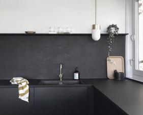 Thiết kế phòng bếp màu đen cùng những ý tưởng vô cùng độc đáo