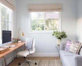 Thiết kế phòng ngủ kết hợp phòng làm việc với phong cách đầy hiện đại