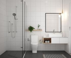 Mẫu thiết kế phòng tắm đơn giản dành cho tất cả căn hộ