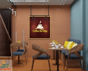 Thiết kế quán cafe Anh Mập - Tân Phú