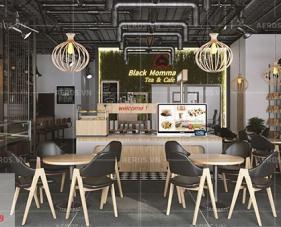 Thiết kế quán cafe Black Momma - quận Tân Bình
