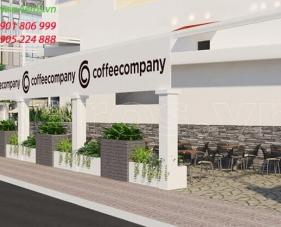 Thiết kế quán cafe Coffee Company -  Quận 7