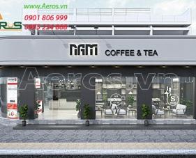 Thiết kế quán cafe Nam - quận Thủ Đức
