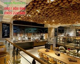 Thiết kế quán cafe Starbucks - quận 1