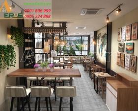 Thiết kế quán trà sữa Aloha - quận Tân Phú