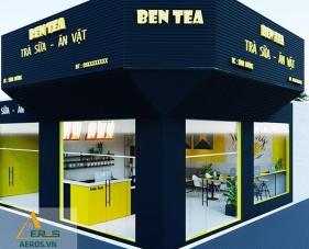 Thiết kế quán trà sữa Ben Tea - Bình Dương