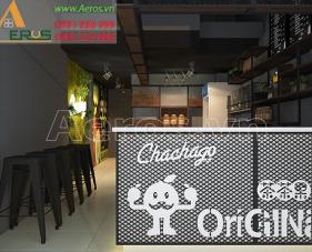 Thiết kế quán trà sữa Chachago - quận Phú Nhuận