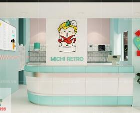 Thiết kế quán trà sữa Chamichi Retro - Hà Nội