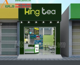 Thiết kế quán trà sữa King Tea - Quận 12