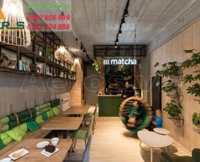 Thiết kế quán trà sữa Matcha - quận 5