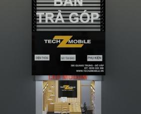 Thiết kế shop điện thoại techZmobile - Gò Vấp