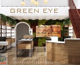 Thiết kế shop mắt kính Green Eye - quận 7
