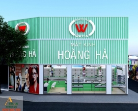 Thiết kế shop mắt kính Hoàng Hà - quận Tân Phú