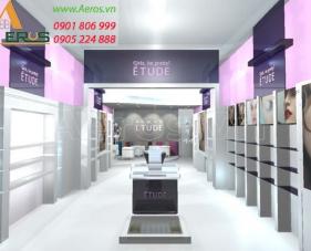 Thiết kế shop mỹ phẩm Etude - quận Tân Phú