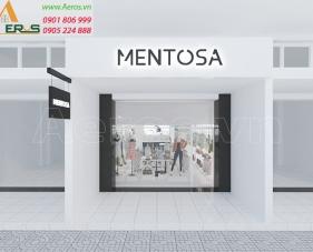 Thiết kế shop thời trang MENTOSA, quận Tân Bình - TPHCM