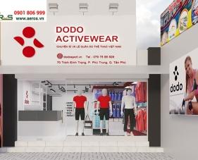 Thiết kế shop thời trang thể thao Dodo Activewear - Tân Phú