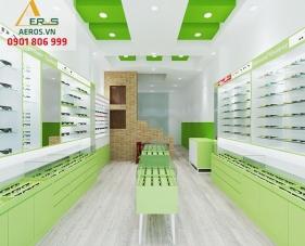Thiết kế thi công cửa hàng mắt kính của chị Linh - Tân Phú