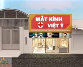 Thiết kế thi công cửa hàng mắt kính Việt Ý - quận 9