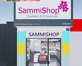 Thiết kế thi công cửa hàng mỹ phẩm SammiShop - quận 10