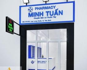 Thiết kế thi công nhà thuốc Minh Tuấn - Tân Bình