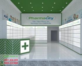 Thiết kế thi công nhà thuốc Pharmacity