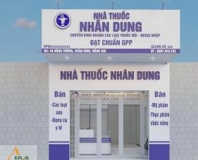 Thiết kế thi công nhà thuốc tây Nhân Dung - Đồng Nai