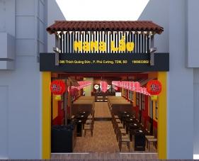 Thiết kế thi công nội thất nhà hàng MaMa Lẩu - Bình Dương