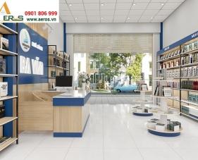 Thiết kế thi công nội thất nhà sách Ba Văn - Long An