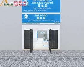 Thiết kế thi công nội thất nhà thuốc D&C - quận Tân Phú