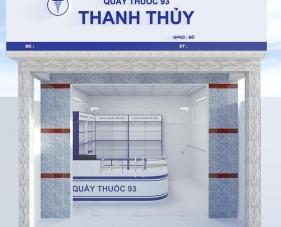 Thiết kế thi công nội thất nhà thuốc Thanh Thủy - Long An