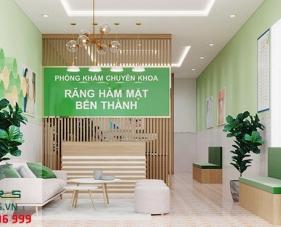 Thiết kế thi công nội thất phòng khám Răng Hàm Mặt Bến Thành - Bình Dương