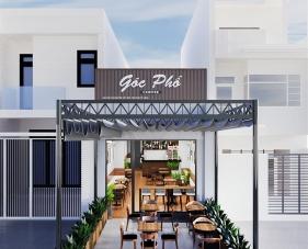 Thiết kế thi công nội thất quán cafe Góc Phố - Tân Phú