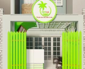Thiết kế thi công nội thất quán dừa CoCo Fami - Quận 1