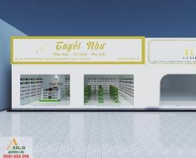 Thiết kế thi công nội thất shop giày dép Tuyết Như - Tây Ninh