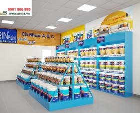 Thiết kế thi công nội thất showroom sơn Brin Paint - Đồng Nai