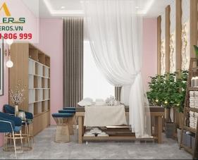 Thiết kế thi công nội thất spa của anh Đăng - quận 5