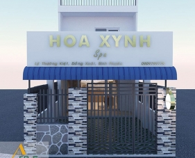 Thiết kế thi công nội thất spa Hoa Xynh - Bình Phước