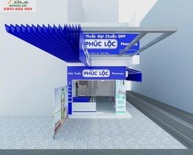 Thiết kế thi công nội thất tiệm thuốc tây Phúc Lộc - Tân Phú
