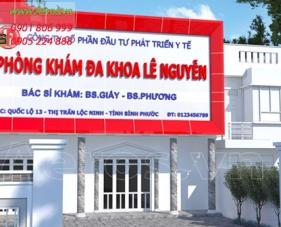 Thiết kế thi công phòng khám đa khoa Lê Nguyễn - Bình Phước