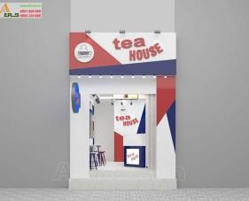 Thiết kế thi công quán trà sữa chị Dung - Quận 8