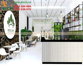 Thiết kế thi công quán trà sữa King Land - Long An