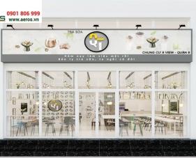 Thiết kế thi công quán trà sữa QT - Quận 9