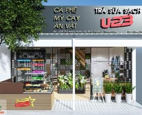 Thiết kế thi công quán trà sữa sạch U23 của chị Thêu - Bình Dương